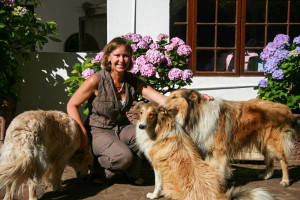 Carin w Dogs - large